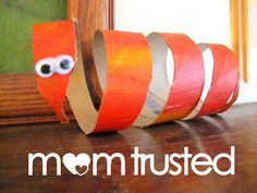toilet paper roll snake craft. or you could use a paper towel roll too.