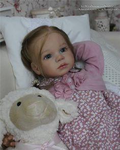 Reborn girl toddler gentle Emilia, kit Gabriella by Regina Swialkowski. | eBay
