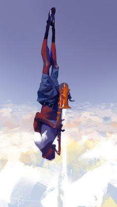 sunday evening by sergey kolesov Illustration Now! Painting Inspiration, Art Inspo, Sergey Kolesov, Character Art, Character Design, Animation Character, Gouache, Fantasy Concept Art, Street Art