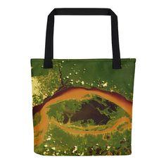 Amazon Rainforest Satellite Image Tote bag
