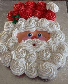 Santa Claus Cupcake Cake.