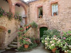 European photo of house and stairs in Tuscany,Italy by Dennis Barloga | Photos of Europe: Fine Art Photographs by Dennis Barloga