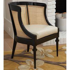 Global Views Black Cane Chair @Zinc_Door