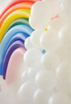 Rainbow Balloon Back