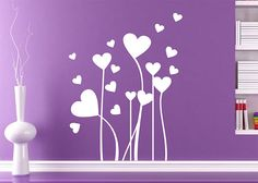 coraflor #decoraconvinil #vinilosdecorativos #decoracion #decoratupared #corazones #tallos