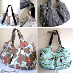I can customize it :)  Emmaline Bag PDF Sewing Purse Pattern - A Floral Handmade Purse, Handbag, Shoulder or Hobo Bag. $9.50, via Etsy.