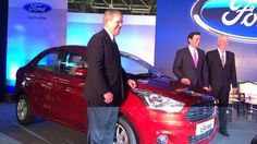 Ford unveils Figo Aspire sedan at their new factory in Sanand, Gujarat