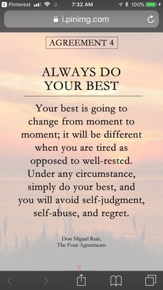 Told to my children, from jr. high on.just your best my bears, each day and the percent will always be different, just your very best. Daily Quotes, True Quotes, Great Quotes, Quotes To Live By, Motivational Quotes, Inspirational Quotes, Wisdom Quotes, Positive Affirmations, Positive Quotes