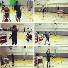 Earlier this afternoon, Stephen Curry was putting in work for the #FootLockerThree ... How do you think he'll do in Saturday's shootout?