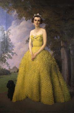 SIR HERBERT JAMES GUNN (), Portrait of Margaret, Duchess of Argyll (1912-1993), 1950s; oil on canvas; 90 x 60 inches 228.6 x 152.4 cm