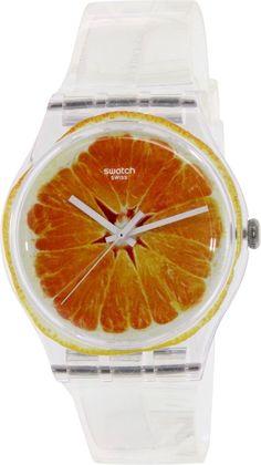 Swatch Women's Originals SUOK115 Orange Silicone Swiss Quartz Watch #Swatch #FashionWatches