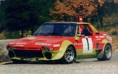 La X1/9 Abarth dell'equipaggio Darniche- Mahé al Rally Ronde de La Durance in Francia (1975).