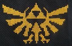 Triforce cross stitch