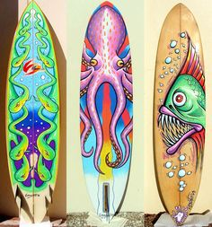 Custom surfboard painting have students design a symmetrical surf board and have them ride the great wave Mehr Surfboard Painting, Surfboard Art, Surfboard Drawing, Surfboard Storage, Skateboard Design, Skateboard Art, Deco Surf, E Skate, Custom Surfboards