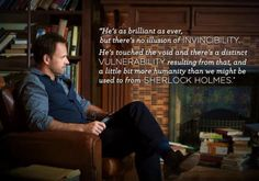This is one of the reasons I love Elementary!  I so enjoy seeing Sherlock in a new light- Same Holmes just  a little bit different. Quite good!