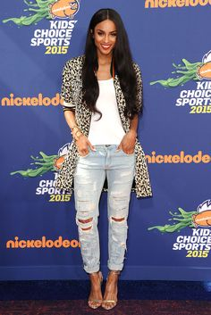Ciara attends the Nickelodeon Kids' Choice Sports Awards at UCLA's Pauley Pavilion on July 16, 2015, in Westwood, California.   - Cosmopolitan.com waysify