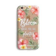 H161 - BLOOM WHERE YOU ARE PLANTED in ALOHA - TPU CLEAR CASE #beach #bible #clear