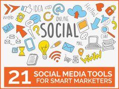 21 outils Social Media qui vont vous faciliter la vie   21 Social Media Tools for Smart Marketers #digital #marketing #social #media