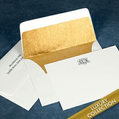 Luxury Script Monogram Flat Note Card Collection, personalized stationery ready to win awards!