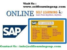 SAP all Courses  Video's Available in  SAP Self Learning  Center  at. http://www.selflearningsap.com    We have the training solutions for the modules like SAP SD, CRM, QM, FIORI , BPC10 , HANA S4 simple finance,  MM ,  ABAP,  FICO,  APO, WM,  EWM , BO 4.1 , BI 7.3, PI 7.4,PP, HR/HSM , BASIS  HANA ,  ABAP Webdynpro & OOPs.
