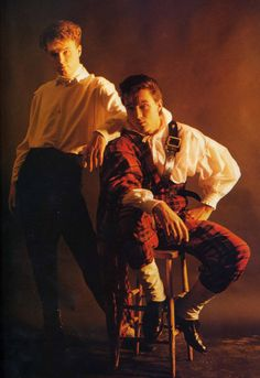 """Gary & Martin Kemp. Saw Spandau Ballet's U.S. debut at some club in New York. Billy Idol was standing next to us but he was not dancing with himself to """"Dancing with Myself""""."""