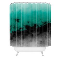 Caleb Troy Zero Visibility Emerald Shower Curtain | DENY Designs Home Accessories