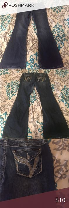 Jeans Denim jeans with detailed pockets and light fading. In good condition only worn a few times! Jeans Flare & Wide Leg