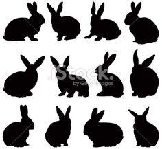Rabbit silhouettes Royalty Free Stock Vector Art Illustration