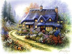 A+Happy+House++Counted+cross+stitch+pattern+in+by+Maxispatterns