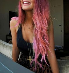 Who doesn't love bubblegum pink hair?