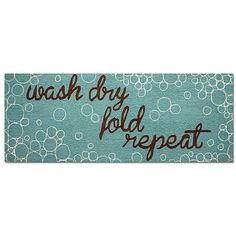 Improvements Wash, Dry Novelty Runner-6' - Aqua Wash Dry Fold ($35) ❤ liked on Polyvore featuring home, rugs, accent rug, runner, rug runner, outdoor rug, novelty runner, novelty rug, indoor/outdoor rug and indoor rug