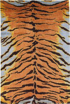 Carini lang animal rug--we all need this rug! Contemporary Carpet, Modern Carpet, Animal Rug, Animal Print Rug, Animal Print Furniture, Tiger Rug, Tiger Skin, Turquoise Rug, Diy Carpet