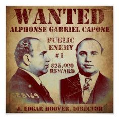 Al Capone Wanted Poster by Vintage Apple Collection Canvas Art - Multi Al Capone, Canvas Artwork, Canvas Prints, Art Prints, Chicago Outfit, Mug Shots, American History, American Crime, Online Art
