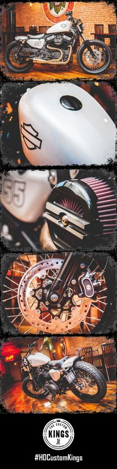 Built on the foundation of simple yet functional, Reiman's Harley-Davidson build features the attitude of a post-war bobber and the functionality of a trail machine. | Harley-Davidson #HDCustomKings