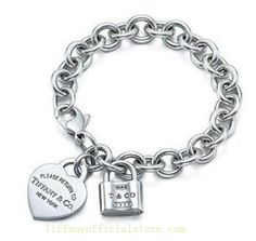 Tiffany & Co Outlet Return To Heart and Lock Tag Bracelet