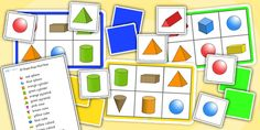 Twinkl Resources >> 3D Shape Bingo And Lotto Pack  >> Thousands of printable primary teaching resources for EYFS, KS1, KS2 and beyond! 3D shapes, shape bingo, learning shapes, shape game, naming shapes, shape properties,