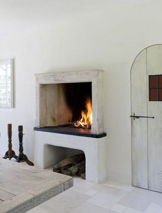 Cosy kitchen fireplace