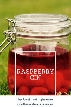 This raspberry gin is one of my all-time favourite recipes, and the most popular on The Usual Saucepans. Using the best fresh, seasonal ingredients to make a ridiculously delicious and more-ish drink that you can have neat over ice, as part of a gin and t Flavored Alcohol, Flavoured Gin, Homemade Alcohol, Homemade Liquor, Raspberry Gin, Blackberry Wine, Raspberry Recipes, Rhubarb Recipes, Gin Recipes