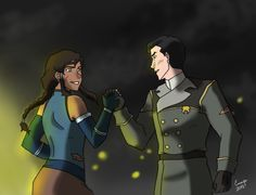 "eviechan68: ""I'll follow you into battle no matter how crazy things get. I've got your back and i always will."" I wanted to portray that Mako really kept his promise that he made to her also battle couple Makorra having each others back is very important Korra Avatar, Aang, Avatar Funny, Cartoon Ships, Avatar The Last Airbender Art, Avatar Couple, Legend Of Korra, Doujinshi, Cartoon Network"