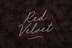 Red Velvet Font - Script