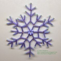 Beading for the most-beginners: Snowflake from Bugle