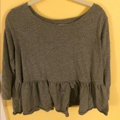 Free People peplum shirt! Adorable free people peplum shirt, perfect condition! Looks so cute on! Free People Tops