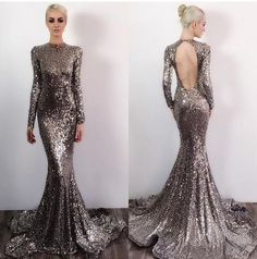 Sequin Prom Dresses Prom Dress Backless Evening Gown Long Formal Dress Sequined Prom Gowns Open Backs Evening Dresses For Teens Sequin Prom Dresses, Prom Dresses Long With Sleeves, Backless Prom Dresses, Mermaid Prom Dresses, Prom Gowns, Dress Prom, Sequin Gown, Backless Evening Gowns, Evening Dresses