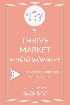 Thrive Market is an