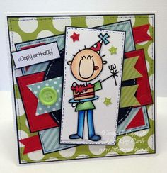 Bespoke birthday card created by Little Megs Cards