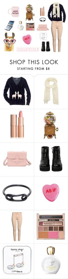 """""""I'm in Love with a """"Llama"""""""" by psycho-tsundere-fox ❤ liked on Polyvore featuring Theory, Jelly Belly, The WhitePepper, Maria Black, H&M, Urban Decay, Happy Plugs, Nintendo, Versace and ban.do"""