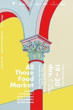 Food Market Poster Design - Event Poster Design In Event Poster Design, Poster Design Inspiration, Graphic Design Posters, Graphic Design Illustration, Typography Design, Food Poster Design, Event Posters, Poster Ideas, Gfx Design