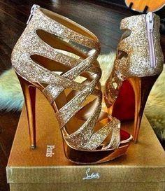 Shoes shoes shoes. Gold shoes!