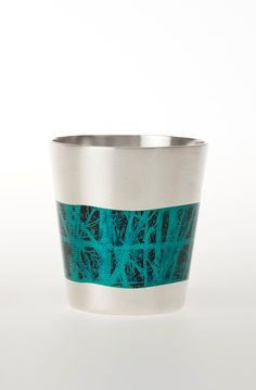 ‎...tamara de vries winter....silversmith...artist...uk...excellent...Ceremonial 'tree' cup by Tamar Winter, silver and enamel.
