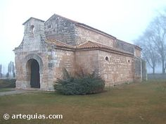 Church of San Juan Bautista at Baños de Cerrato (Spain). Commissioned by Visigothic king Recceswinth in 661 CE, this church is the most ancient Visigothic monument in Spain